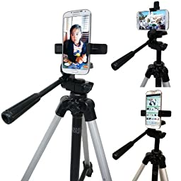 ChargerCity Apple iPhone 7 Plus 6S 6 SE Samsung Galaxy S7 Edge Nexus Droid LG G5 V20 360º Multi Adjust Video Camera Record Holder Tripod Adapter MountTripod is not included