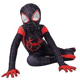Da Mai Toddler Kids Spider Verse Miles Morales Gwen Jumpsuit Bodysuit Black Spider Tights Zentai Costume