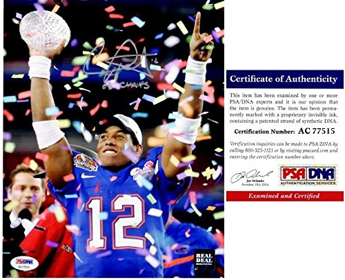 Signed Leak Picture - UF 8x10 inch 2006 Championship 2006 BCS MVP National Champs Certificate of Authenticity COA) - PSA/DNA Certified