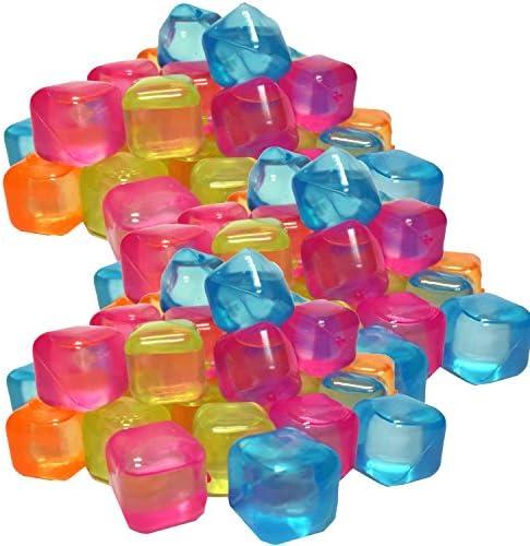 trends4ever 50 Eiswürfel klar Party wiederverwendbar Eiswürfelform Kunststoff Dauereiswürfel