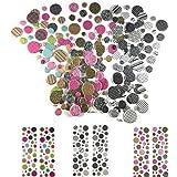 240 Piece! 3D Mini Adhesive Dots | Scrapbook Stickers - Planner Stickers | Animal, Black & White & Kaleidoscope | Card Making, Scrapbooking, Kids Crafts & Planner Dots | 3D Scrapbook Stickers Pop Dots