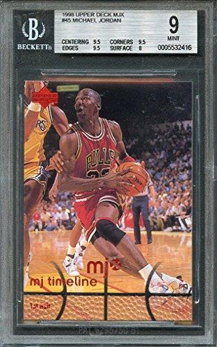 1998 upper deck mjx #45 MICHAEL JORDAN chicago bulls BGS 9 (9.5 9.5 9.5 8) Graded Card