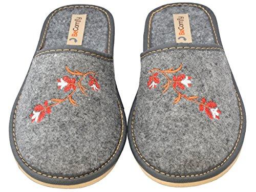 pour Chaussures en Mules Femmes BeComfy Feutre Mules PZIx1wq5n