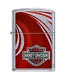 Zippo Harley-Davidson Red High Polish Pocket Lighter, Chrome