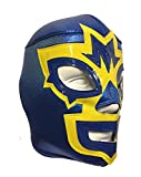 MASK MANIAC Adult Lucha Libre Wrestling Mask (pro-fit) Costume Wear - Blue/Yellow