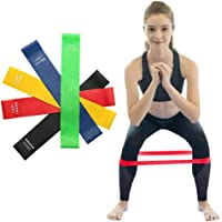 Kit 5 Faixas Elasticas Exercicios em Casa Mini Band Extensor Academia Yoga Pilates Fitness Crossfit