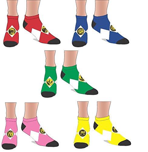 (Power Ranger Ankle Socks (Power Ranger Set) sock size: 9-11fits shoe size: 5-10)