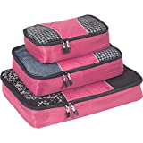 eBags Classic Packing Cubes for Travel - 3pc Set - (Peony)