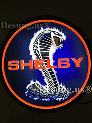Desung.us® Revolutionary Shelby LED Light Sign 3D Vivid High Quality Design Decorate 3rd Generation Sign 17''x17'' ST06