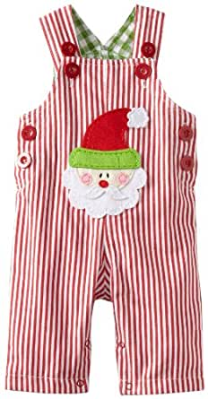Mud Pie Baby Boys' Santa Overall, Multi Colored, 0 6 Months