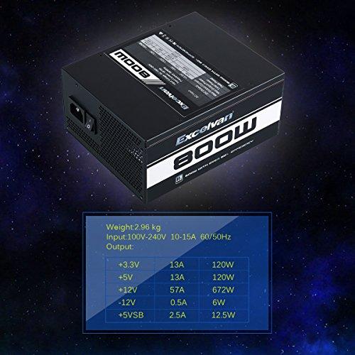 Excelvan ATX Computer Power Supply Desktop PC for Intel AMD PC SATA US (800W) by Excelvan (Image #7)