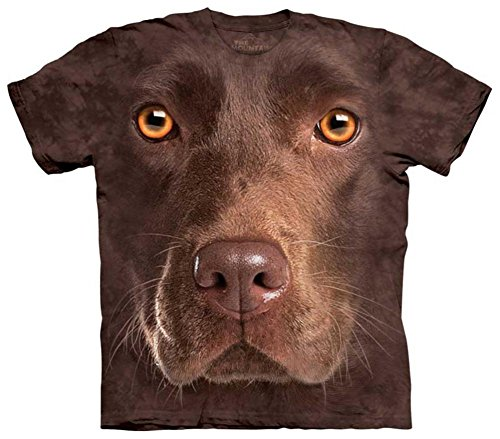 Youth: Chocolate Lab Face Kids T-Shirt Size (Youth Chocolate)