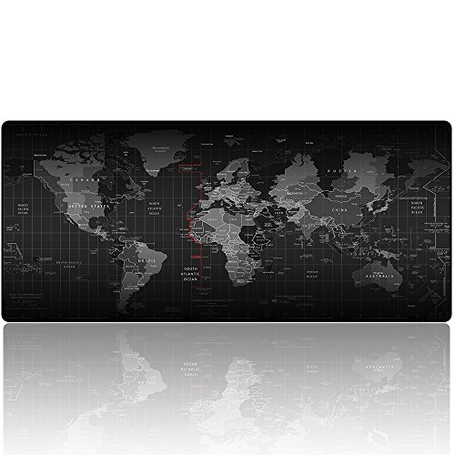 Imegny-XXL-Gaming-Mouse-PadExtended-Keyboard-Mouse-Mat-with-Stitched-Edges-Non-slip-Rubber-Base