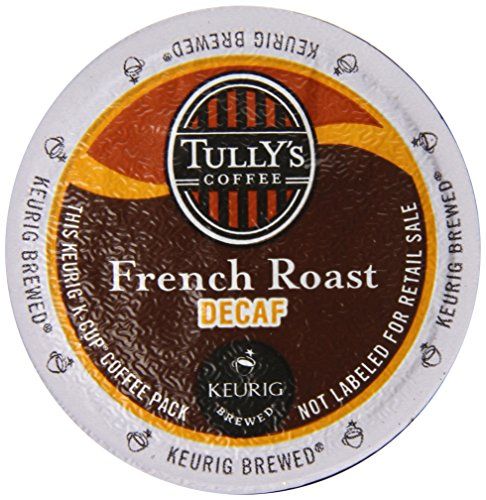 Tully's Coffee Dark Roast Extra Bold K-Cup for Keurig Brewers, French Roast Decaf Coffee (Pack of 96)