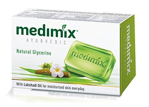 - Medimix Herbal Handmade Ayurvedic Soap with Natural Glycerine With Lakshadi Oil for Dry Skin Pack of 12 (12 x 125 g)