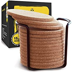 Natural Cork Coasters With Round Edge 4 ...