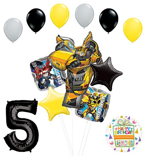 Transformers Mayflower Products Bumblebee 5th Birthday Party Supplies Balloon Bouquet Decorations ()