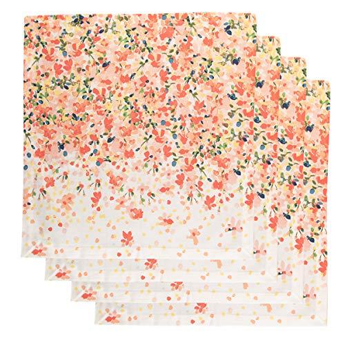 - Tag (4 Pack) Cloth Napkins: Soft Cotton 20 Inch 4 Napkins Set For Dinner Napkins, Table Napkins, Home Decor with Garden Blossom Print
