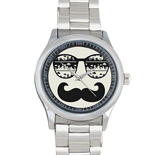FCG029Fashion Wristwatch Customized Mustache With Sunglasses metal - Sunglasses Yamaha