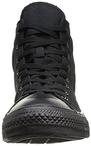 Omgekeerde Unisex Chuck Taylor All Star Hi Top Sneakers Zwart Monochroom, Us Mens 4 / Womens 6