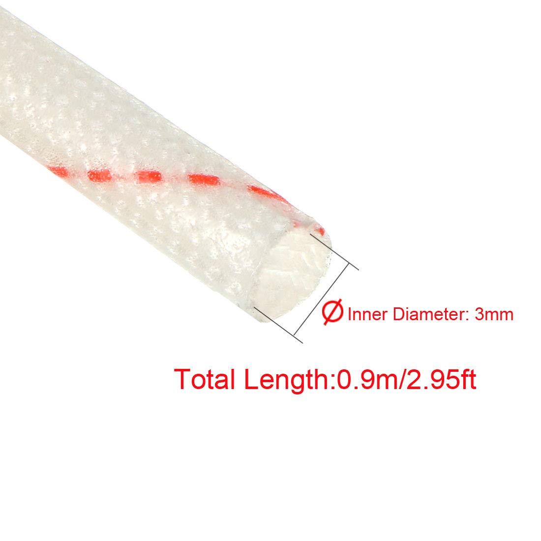 Sourcing Map 1500 V, manguera ajustable, 125 grados Tubo de aislamiento de PVC con manga de fibra de vidrio