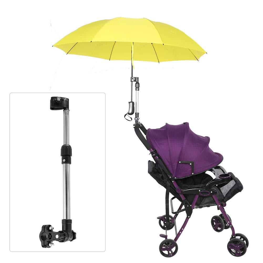 Fahrradschirmst/änder multifunktionaler versenkbarer Regenschirmhalter 360 /° rostfreier Edelstahl f/ür Kinderwagen-Kinderwagen