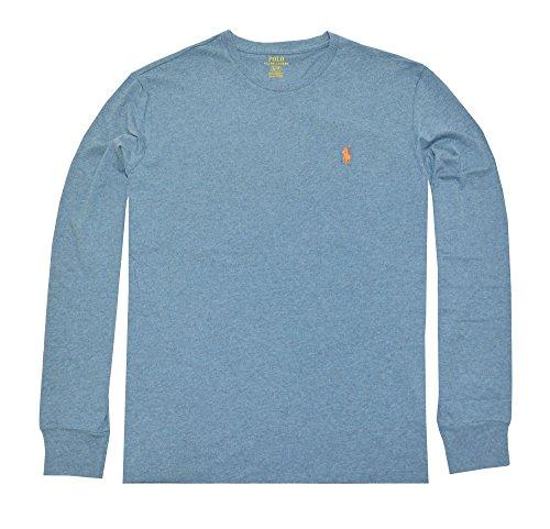 Polo Ralph Lauren Men's Long Sleeve Pony Logo T-Shirt - Medium - Marine Heather