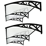 ZENY Set of 2 40''x 80'' Window Awning DIY Overhead Door Canopy Decorator Patio Cover (#2)