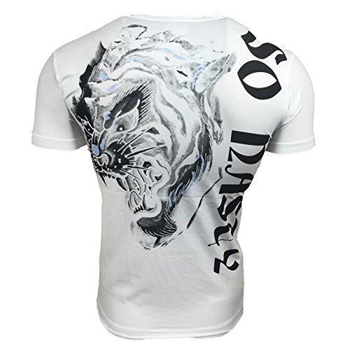 Avroni T-Shirt Herren Knopf Poloshirt Slim Fit Hemd Kurzarm Türkis Weiß Schwarz A13164, Größe:S, Farbe:Schwarz