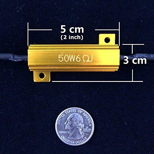 Amazon.com: 4Pcs Aaron 50W 6ohm Load Resistors - Fix LED Bulb Fast ...