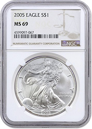 2005 American Silver Eagle $1 NGC MS-69