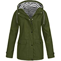 TIMEMEAN Winter Women Autumn Casual Daily Coats Women Solid Rain Jacket Outdoor Plus Waterproof Hooded Raincoat Windproof