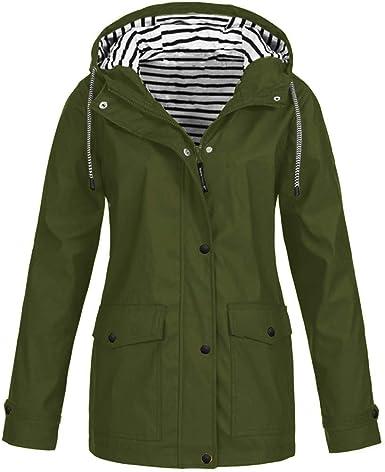 Parka De Pluie Femme Legere avec Capuche Veste Imperméable Chic Grande Taille Blouson Ski Oversize Manteaux Hiver Sportwear