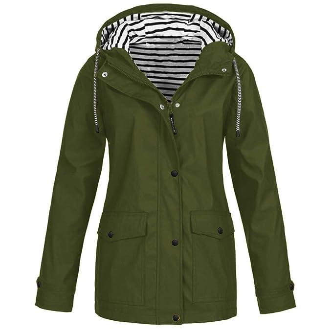 Amazon.com: Ulanda - Chaqueta con capucha para mujer, talla ...
