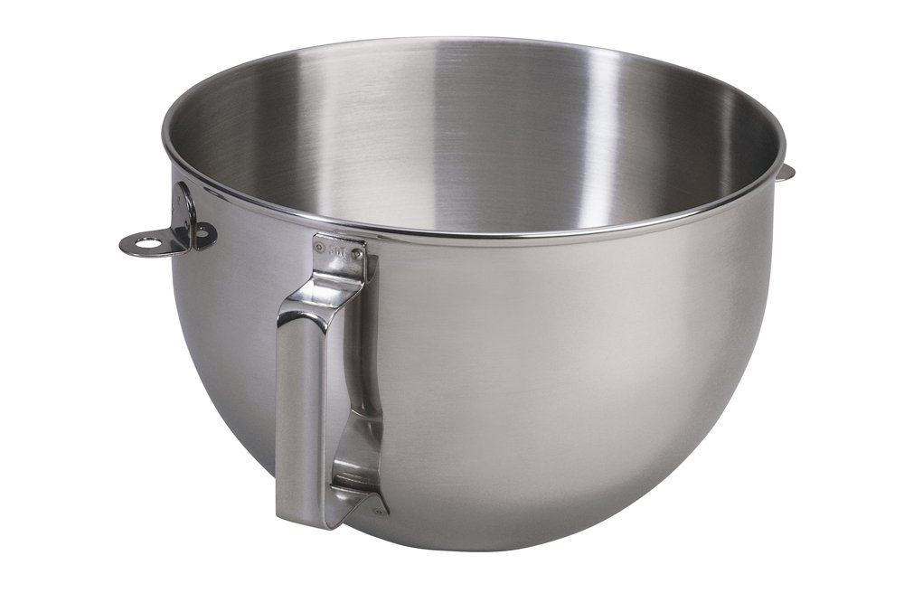 KitchenAid 5qt Polished Stainless Steel Mixer Bowl with Flat Handle
