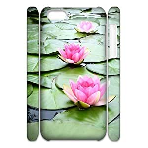 ALICASE Design Diy hard Case Water Lily For Iphone 4/4s [Pattern-1]