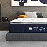 "Signature Sleep Reset 12"" Nanobionic Pillow Top Hybrid Mattress, Queen"