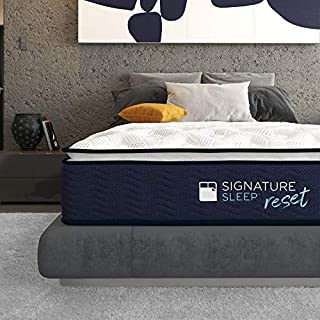 Signature Sleep Reset 12inches Activated Charcoal, Latex and Gel Memory Foam Pillow Top Hybrid Mattress, Queen Size (B07J5QZ4F2)   Amazon price tracker / tracking, Amazon price history charts, Amazon price watches, Amazon price drop alerts