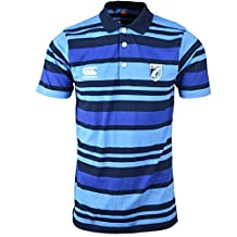 2017-2018 Cardiff Blues Rugby Jacquard Polo Shirt (Navy)