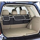 JOYSKY Backseat Trunk Organizer for SUV, Hanging Seat Back Storage Organizer with Large Pockets - Heavy Duty and Space-Saving