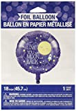 Creative Converting 322271 To the Moon and Back Gender Neutral Baby Shower Foil Balloon Party Supplies 18'' Multicolor