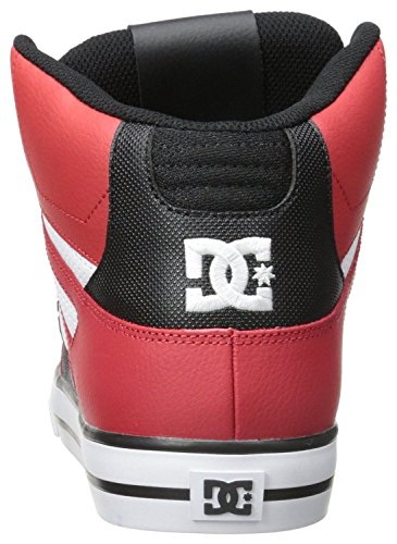 DC Spartan Hi WC Black White Red Leather Mens Skate Trainers Shoes Boots-10
