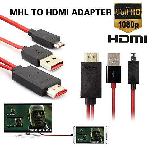 FidgetKute 2M MHL USB to HDMI 1080P HD TV Adapter Cables for Samsung Galaxy Huawei Sony LG Show One Size