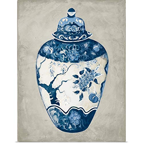 GREATBIGCANVAS Poster Print Entitled Imari Urn I Blue and White by Marilyn Hageman 30
