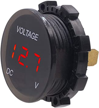 Hot DC 12V-24V Car Motorcycle LED Panel Digital Display Volt Voltage Gauge Meter