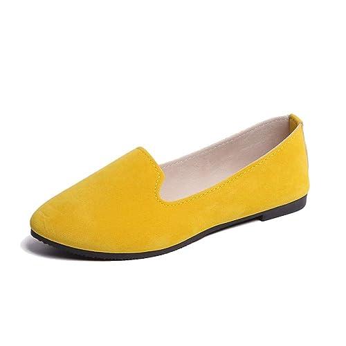 Mujer Bailarinas, Zapatillas de Ballet de Piel Mocasines Transpirables Zapatillas Plano Zapatos Cómodos Casuales Moda de Lazo para Señoras: Amazon.es: ...