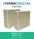 Think Crucial 2 Replacements for Aircare 1043 Paper Wick Humidifier Filter Fits Spacesaver 800, 8000 Series Console, 10.8'' x 4.2'' x 12.5''