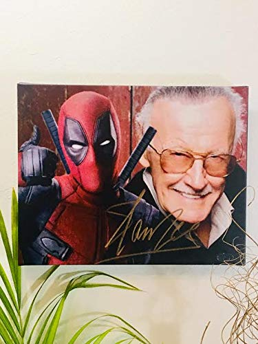 Stan Lee Autographed RP 11x14 Canvas Print Wall Art