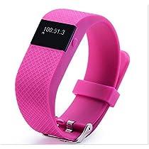Iuhan® Fashion JW86 Smart Bracelet bluetooth4.0 sport smart bracelet sleep heartrate For Phone (Hot Pink)