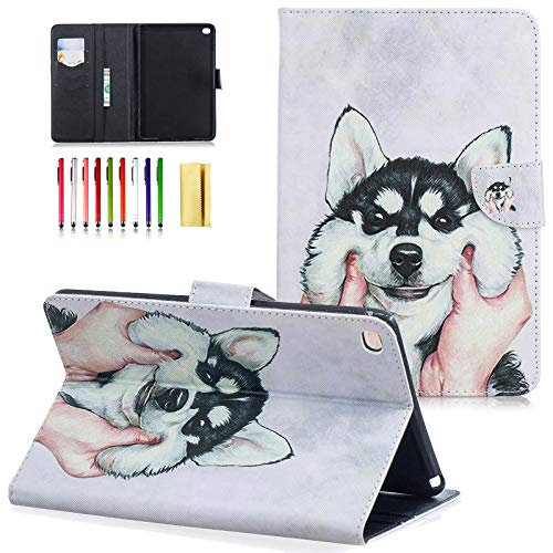 LittleMax iPad Mini 4 Case- Synthetic Leather Smart Wake/Sleep Cover Flip Wallet Case for iPad Mini 4 7.9 Inch (Not fit Min 1/2/3)-#3 Husky
